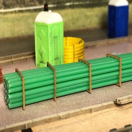 AX069-OO Green Sewer/Drain Pipe (2mm x 280mm) OO/4mm/1:76
