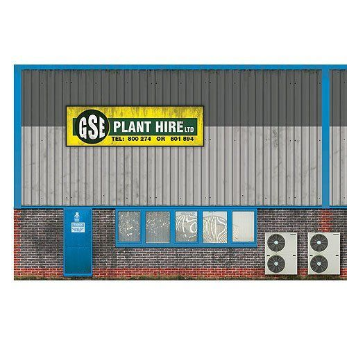 BX007-OO Industrial Unit Side Wall Backscene Elements OO/4mm/1:76