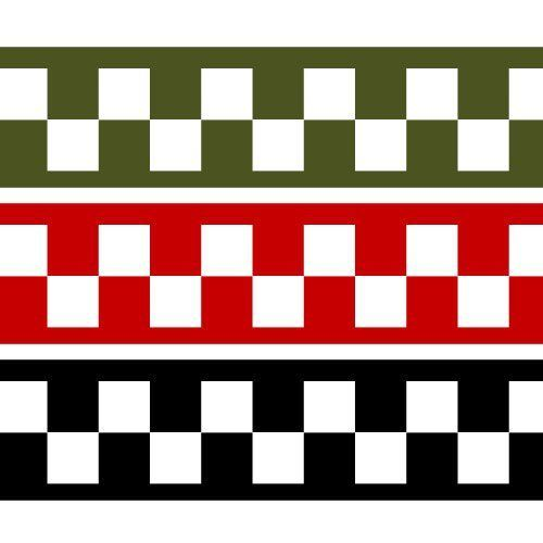DC013-OO White Chequer Stripes (2mm) Decals OO/4mm/1:76