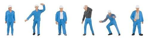 Faller 150929 Chemical Plant Workers Figure Set (Pack of 6) OO/HO