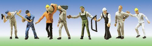 Faller 151051 Construction Workers (Pack of 8) OO/HO