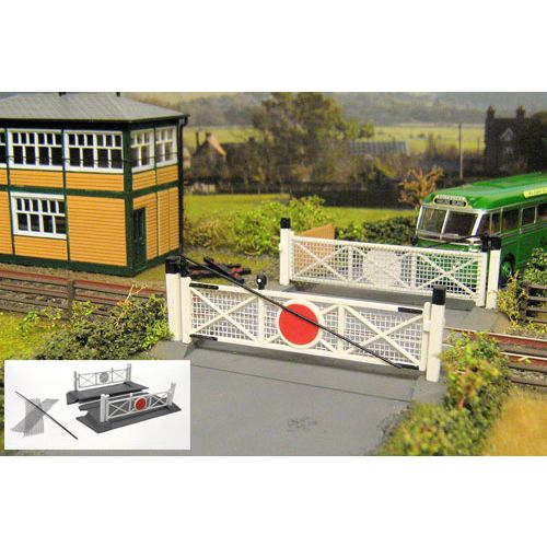 Gaugemaster GM404 Fordhampton Single Track Level Crossing Plastic Kit - OO / HO