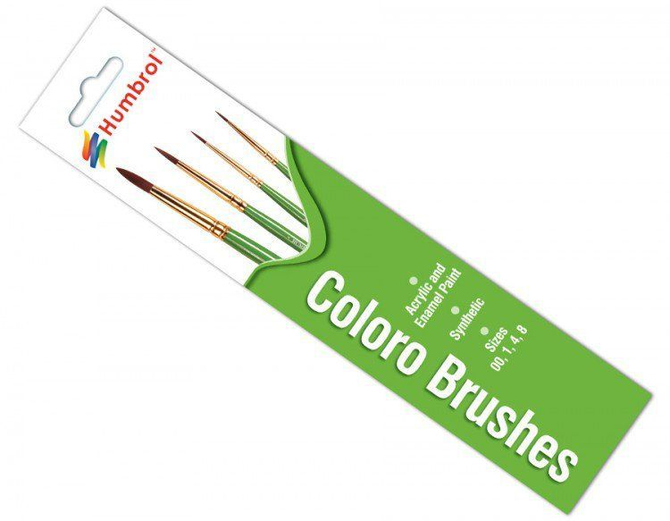 Humbrol AG4050 Coloro Brush Pack (Pack of 4)