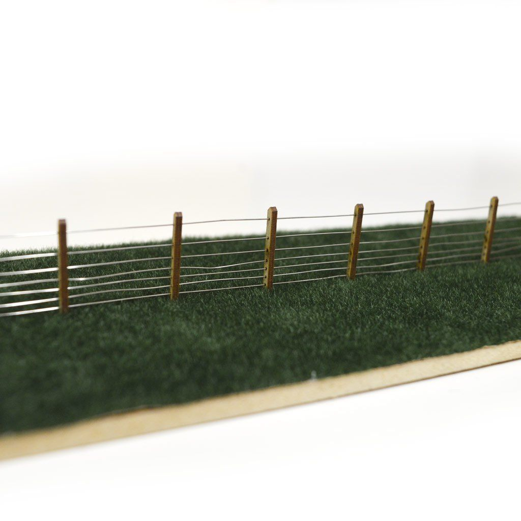 Lx061 Oo Laser Cut 5ft Gwr Post Wire Fencing 4mm 1 76 Model Railroad Wiring Train Layout Layouts 176