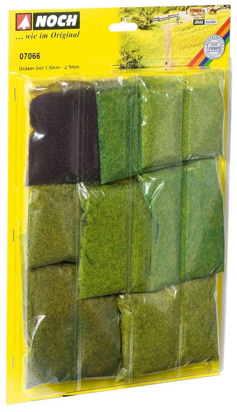 Noch 07066 Short Static Grass Mega-Pack (Pack of 9)