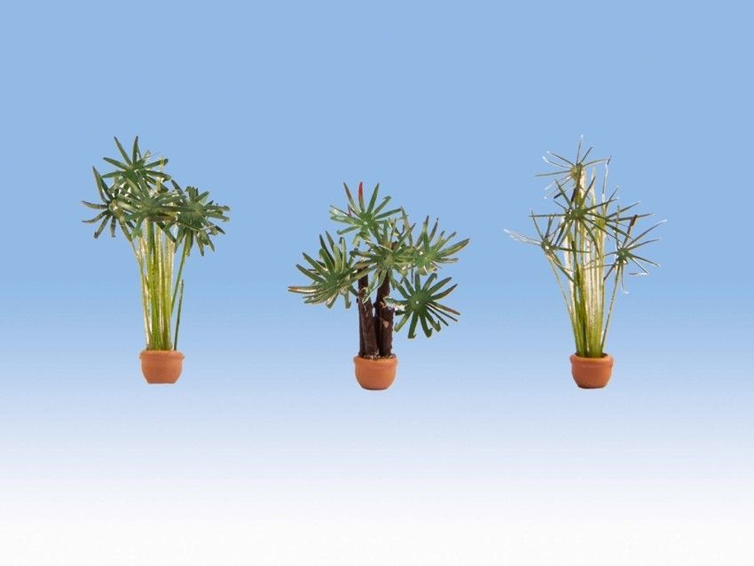 Noch 14024 Large Ornamental Palms In Pots (Pack of 3) - OO / HO