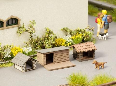 Noch 14364 Laser Cut Minis Kennels (Pack of 3) OO/HO