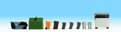 Noch 14825 Waste Containers & Dustbins (Pack of 10) OO/HO