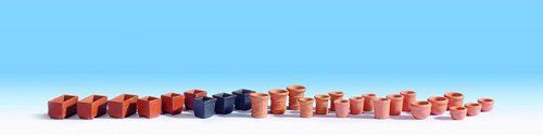 Noch 14885 Assorted Flower Pots OO/HO