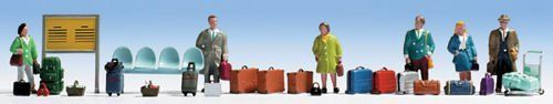 Noch 15221 Travellers & Accessories (Pack of 6) OO/HO