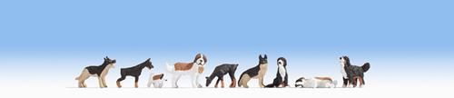 Noch 15717 Dogs Set 1 (Pack of 9) OO/HO
