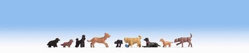 Noch 15719 Dogs Set 2 (Pack of 9) OO/HO