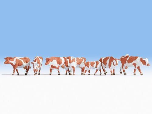 Noch 15726 Brown & White Cows (Pack Of 7) (OO/HO)