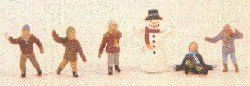 Noch 15818 Children In The Snow (Pack of 6) OO/HO