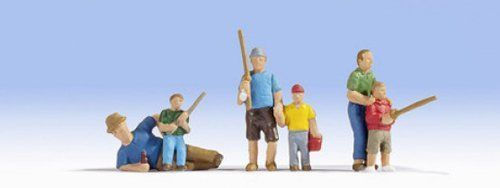 Noch 15893 Fathers & Sons Fishing (Pack of 6) OO/HO