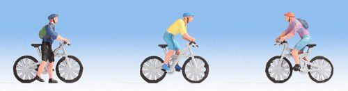 Noch 15899 Mountain Bikers Figure Set (Pack of 3) OO/HO