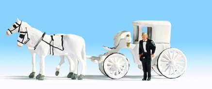 Noch 16706 Horse Drawn Wedding Carriage OO/HO