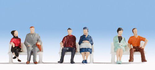 Noch 18130 Hobby Series Seated People (Pack of 6) OO/HO