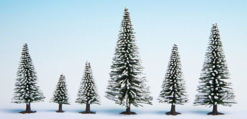 Noch 26929 Hobby Trees Snow Fir Trees 5-14cm (Pack of 5) OO/HO/N/TT