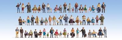 Noch 37070 Mega Economy Figure Set (Pack of 60) N/2mm/1:148