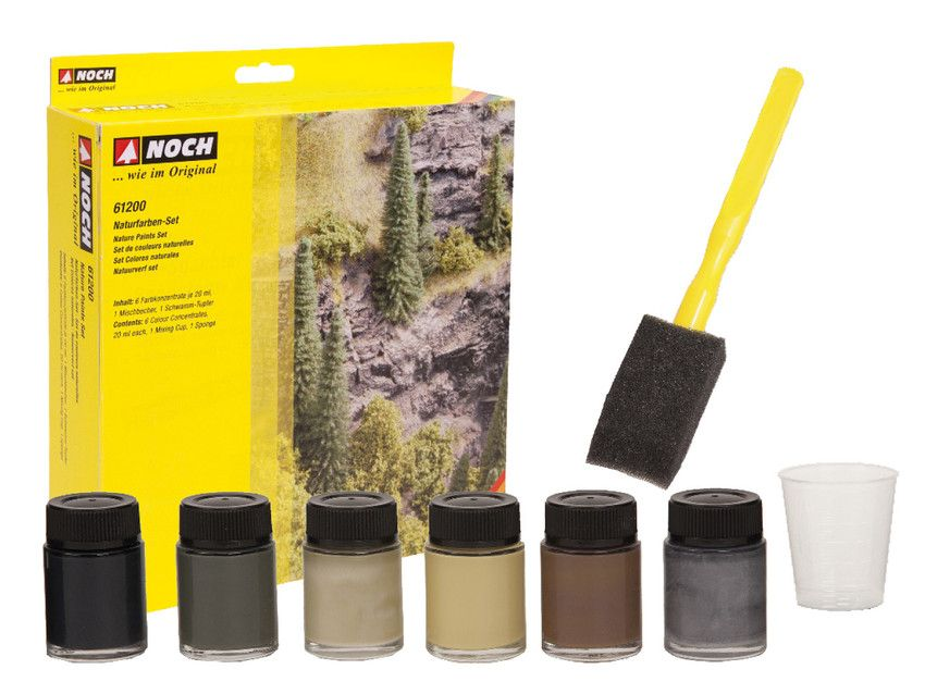 Noch 61200 Landscape / Nature Paints Set (Pack of 6)