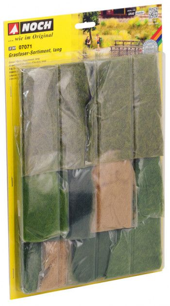 Noch  N07071 LONG GRASS FIBRES ASSORTMENT (For Static Grass Applicators)