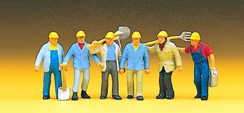 Preiser 10033 Track Workers with Tools OO/HO