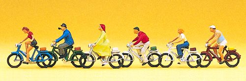 Preiser 10091 Cyclists (Pack of 6) OO/HO