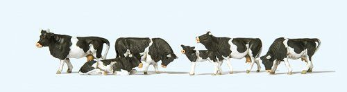 Preiser 10145 Cows With Black Markings OO/HO