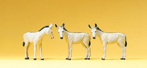Preiser 10151 Donkeys (3) Exclusive Figure Set