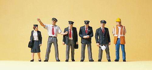 Preiser 10410 British Railway Personnel (Pack of 6) OO/HO