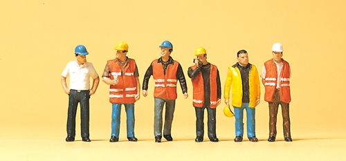 Preiser 10420 Workers In Safety Vests (Pack of 6) OO/HO
