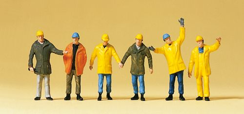 Preiser 10423 Workers In Protective Clothing (Pack of 6) OO/HO