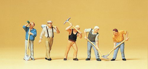 Preiser 10461 Workers With Tools (Pack of 5) OO/HO