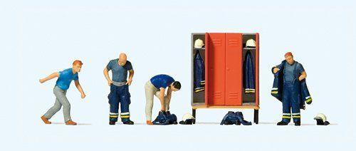 Preiser 10642 Firemen Answering A Call (Pack of 6) OO/HO