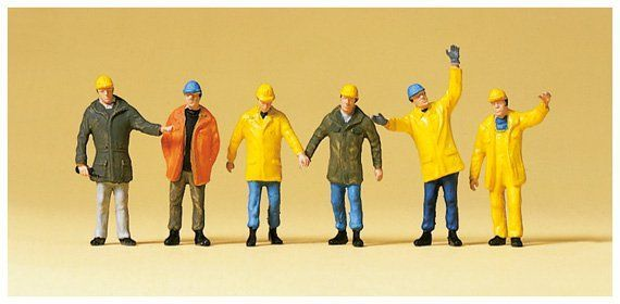 Preiser 14034 Workers In Protective Clothing (Pack of 6)