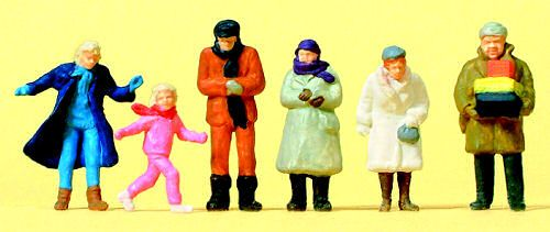 Preiser 14037 Passers By Winter Clothing (Pack Of 6) Standard Figure Set