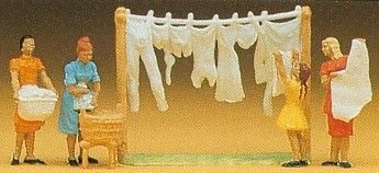 Preiser 14050 Women Hanging Washing (Pack of 4) OO/HO