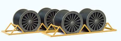 Preiser 17117 Cable Drums & Transport Racks OO/HO