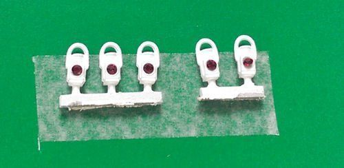 Springside DA20 GWR Tail Lamps White (Pack of 5) OO/4mm/1:76