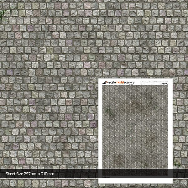 TX026-OO Cobblestones (Pack of 5) OO/4mm/1:76