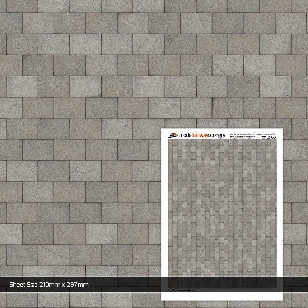 TX152-OO 3ft x 2ft Concrete Paving Slabs (Pack of 5) OO/4mm/1:76