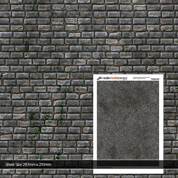 TX206-OO Dark Weathered Cobblestones (Pack of 5) OO/4mm/1:76