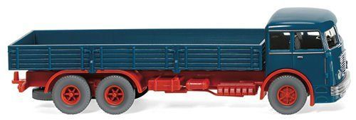 Wiking 047901 Bussing 12000 Flatbed Type Lorry (Blue-Red)