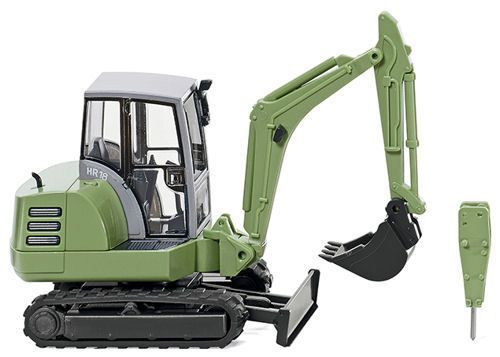 Wiking 065805 HR18 Mini Digger Green OO/HO