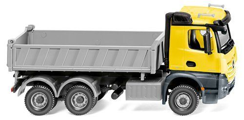 Wiking 067849 Mercedes Benz Arocos Three Way Tipper Zinc Yellow OO/HO